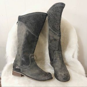Corral charcoal gray laser cut boots (7)